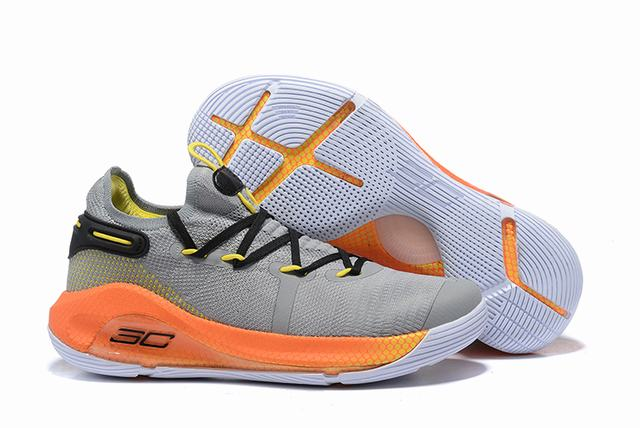 Curry 6 Shoes Low Grey Orange White
